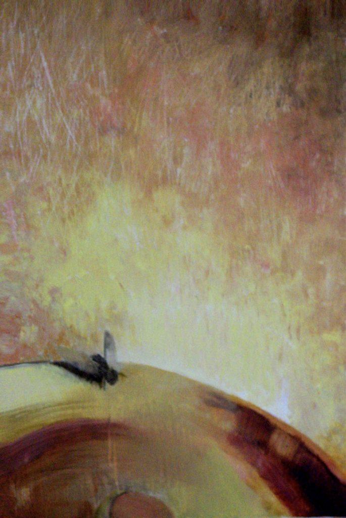 """0 """"Mucha"""" Akryl, 50x70cm, 2001, własność prywatna"""