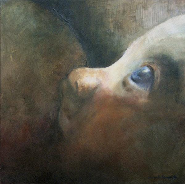 """1 """"Dziecko"""" Akryl, 60x60cm, 2003, własność prywatna"""