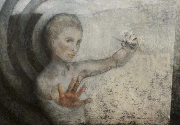 """14 """"Exit"""" Akryl, 116x81cm, 2009"""